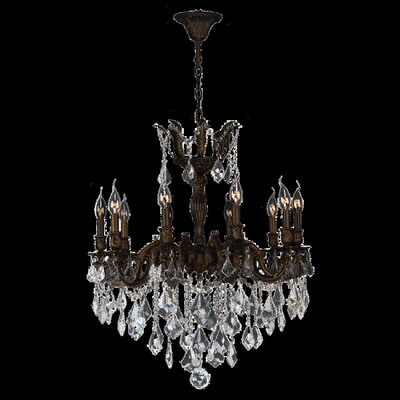 Versailles 10-Light Crystal Chandelier Crystal Color: Clear