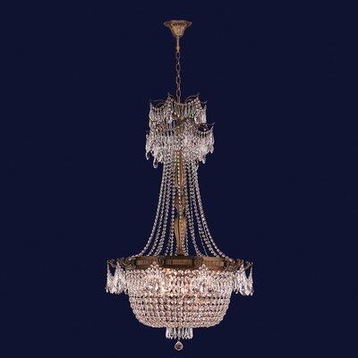 Winchester 10-Light Crystal Chandelier Finish: Antique Bronze