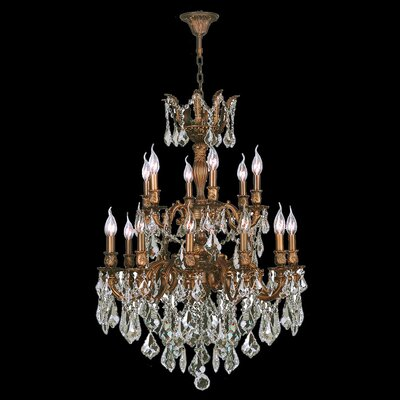 Dodson Traditional 18-Light Chain Crystal Chandelier Crystal Color: Clear