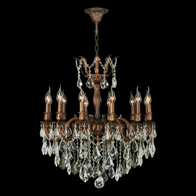 Dodson 12-Light 40W Chain Crystal Chandelier