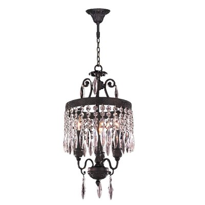 Enfield 3-Light Crystal Pendant