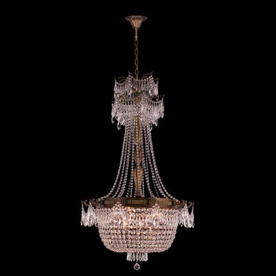 Winchester 10-Light Crystal Chandelier Finish: French Gold