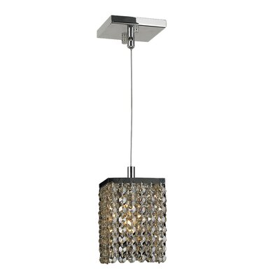 Diep 1-Light Mini Pendant Crystal Color: Golden Teak