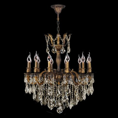 Dodson Traditional 12-Light 40W Crystal Chandelier