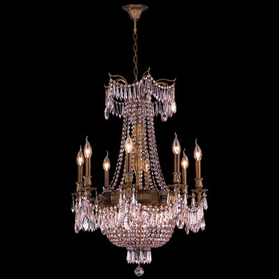Winchester 12-Light Crystal Chandelier Finish: Antique Bronze