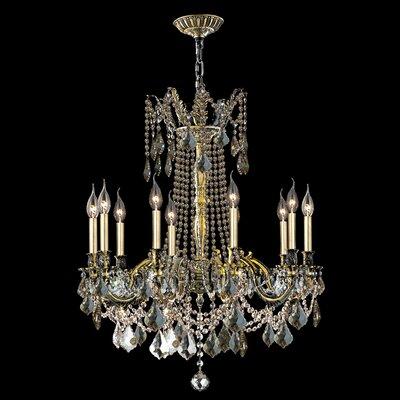 Windsor 10-Light Crystal Chandelier Crystal Color: Golden Teak