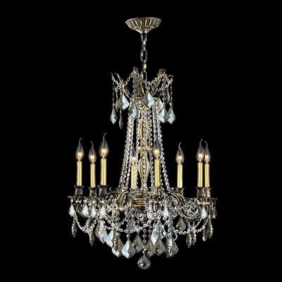 Windsor 8-Light Crystal Chandelier Crystal Color: Golden Teak