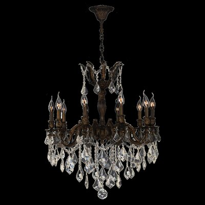 Versailles 10-Light Crystal Chandelier Crystal Color: Golden Teak