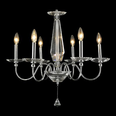 Samara 6-Light Candle-Style Chandelier