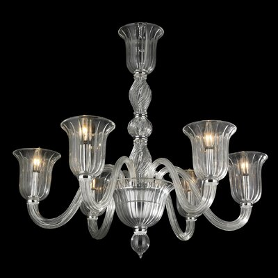 Melvina 6-Light Glass Shaded Chandelier