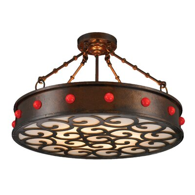 Bastille 6-Light Semi Flush Mount