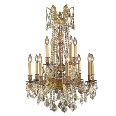 Radtke Cottage 12-Light Crystal Chandelier