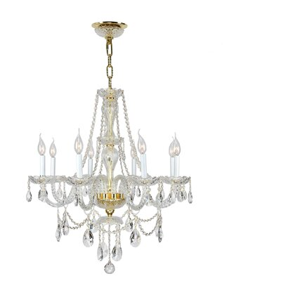 Olde World 8-Light Crystal Chandelier Finish: Gold