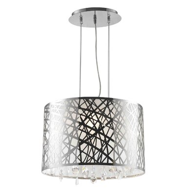 Lemaster 4-Light Drum Chandelier Size: 11 H x 17 W x 12 D