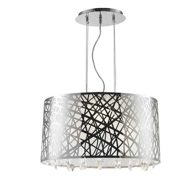 Lemaster 4-Light Drum Chandelier Size: 11 H x 21 W x 12 D