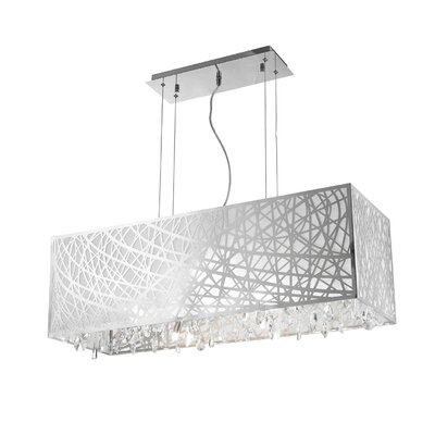 Lemaster 4-Light Kitchen Island Pendant Size: 11 H x 34 W x 12 D