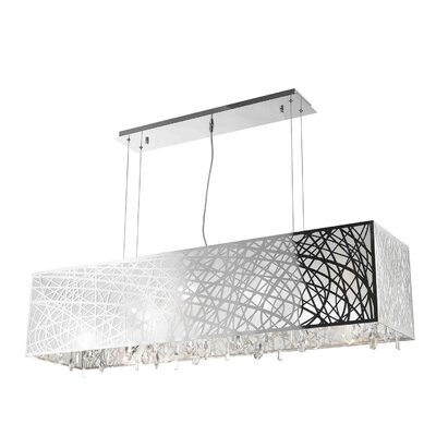 Lemaster 4-Light Kitchen Island Pendant Size: 11 H x 48 W x 12 D