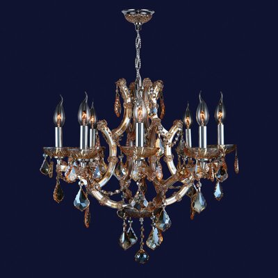 Zhora 8-Light Adjustable Crystal Chandelier