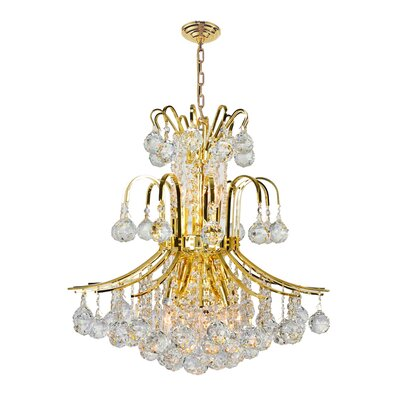 Empire 9-Light Crystal Chandelier Finish: Gold