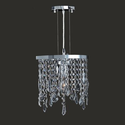 Leist 1-Light Mini Pendant Crystal Color: Clear