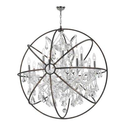 Armillary 13-Light Globe Pendant Crystal: Clear Crystal
