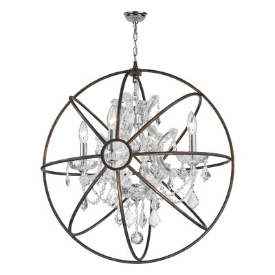 Selena 4-Light LED Globe Pendant Crystal: Clear Crystal