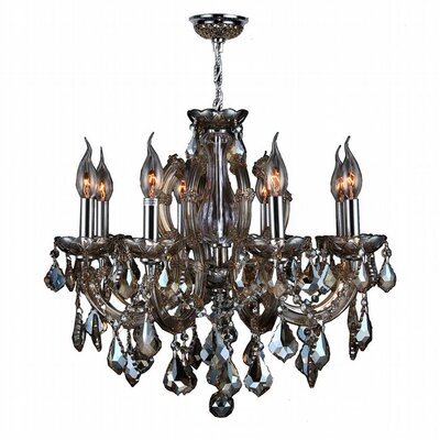 Roslyn 6-Light Crystal Chandelier Crystal Color: Golden Teak