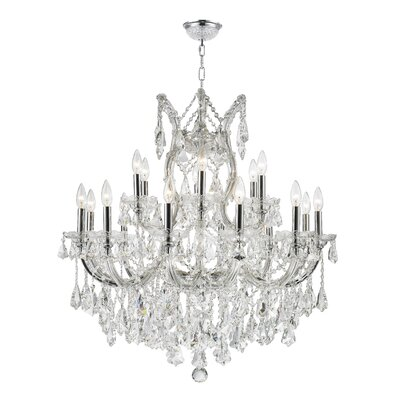 Maria Theresa 19-Light Crystal Chandelier Finish: Chrome