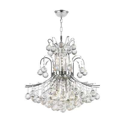 Empire 9-Light Crystal Chandelier Finish: Chrome