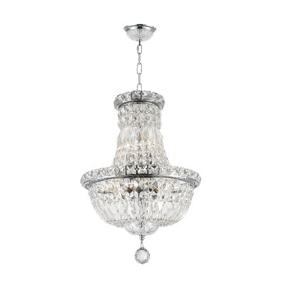 Empire 6-Light Empire Chandelier Finish: Chrome