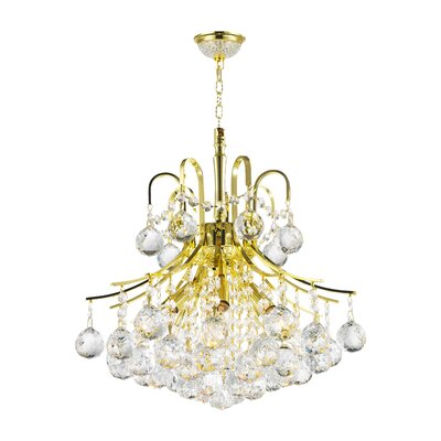 Empire 6-Light Crystal Chandelier Finish: Gold