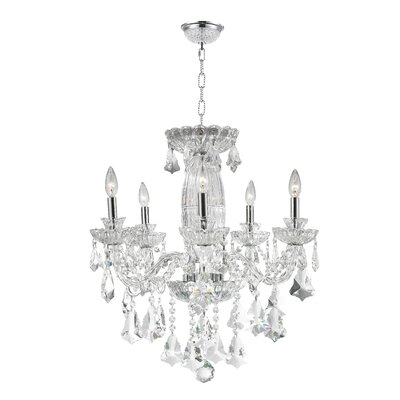 Olde World 5-Light Crystal Chandelier