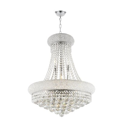 Empire 14-Light Empire Chandelier Finish: Chrome, Size: 36 H x 28 W