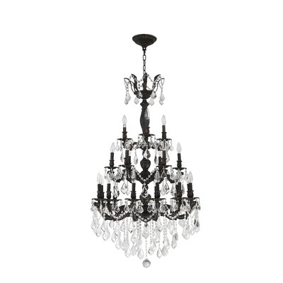Dodson 18-Light Hardwired Crystal Chandelier