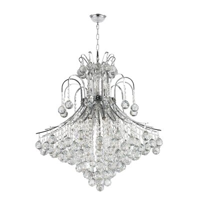 Carson 15-Light Crystal Chandelier Finish: Chrome