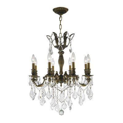 Dodson 8-Light Aluminum Frame Crystal Chandelier