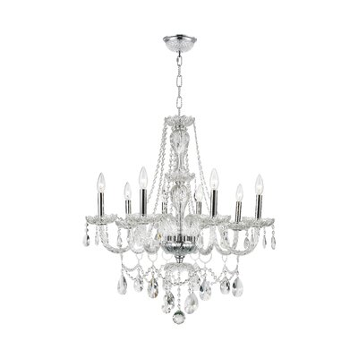 Olde World 8-Light Crystal Chandelier Finish: Chrome