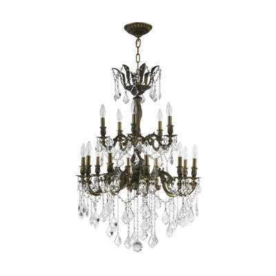 Dodson 15-Light Chain Crystal Chandelier Size: 38 H x 27 W x 27 D