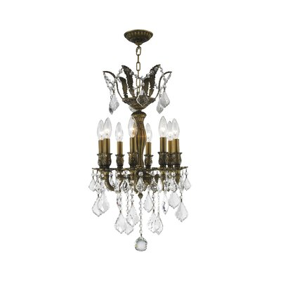 Versailles 8-Light Crystal Chandelier Size: 23 H x 14 W x 14 D