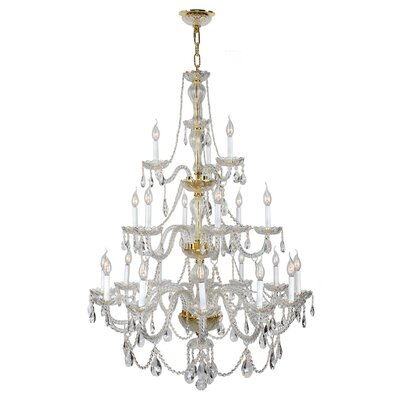 Olde World 21-Light Crystal Chandelier Finish: Gold