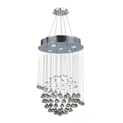 Leiker Modern 5-Light Crystal Chandelier
