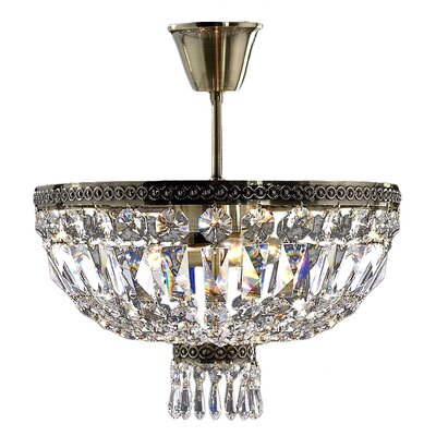 Theodora Crystal 4-Light Semi Flush Mount