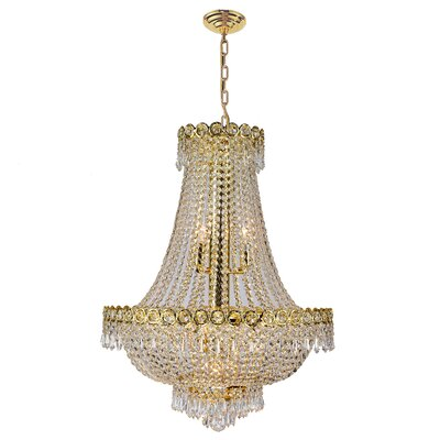 Carson 12-Light 120W Empire Chandelier Finish: Gold