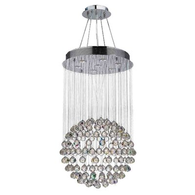 Leiker Contemporary 7-Light Crystal Chandelier