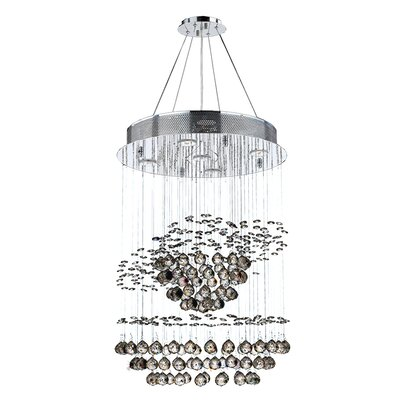 Leiker 5-Light 35W Crystal Chandelier