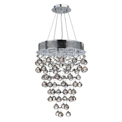 Leiker 7-Light Glass Crystal Chandelier
