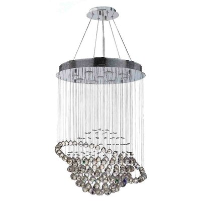 Icicle 9-Light Crystal Chandelier