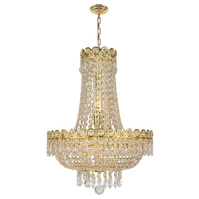 8-Light Empire Chandelier Finish: Gold