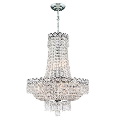 Carson 8-Light Empire Chandelier Finish: Chrome