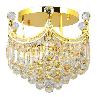 Carson 6-Light Semi Flush Mount Finish: Gold